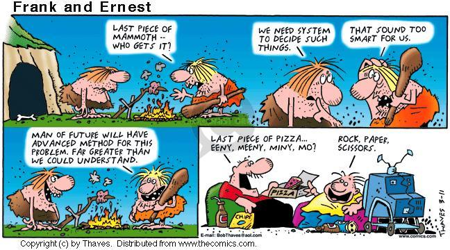 Comic Strip Bob Thaves Tom Thaves  Frank and Ernest 2001-03-11 divide