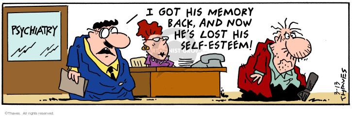 Cartoonist Bob Thaves Tom Thaves  Frank and Ernest 2001-03-13 secretary