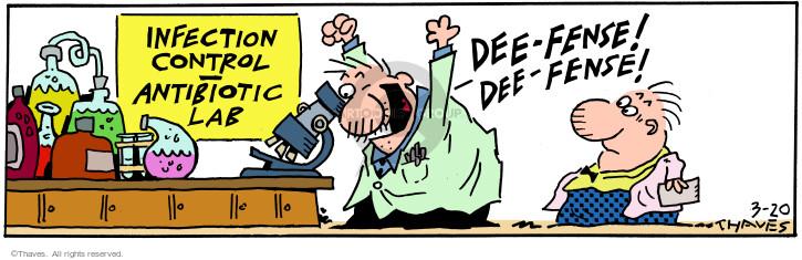 Cartoonist Bob Thaves Tom Thaves  Frank and Ernest 2001-03-20 biology