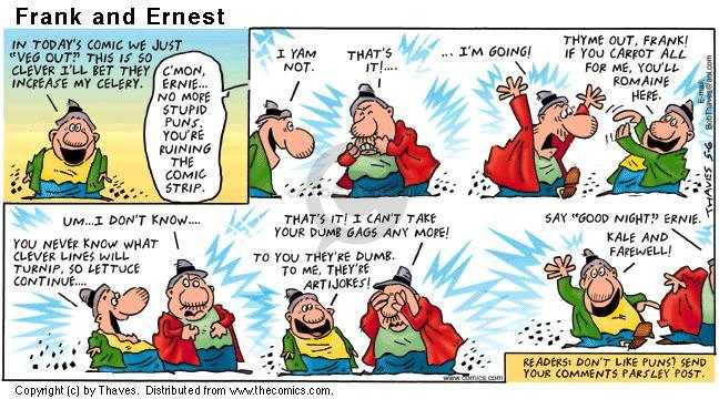 Comic Strip Bob Thaves Tom Thaves  Frank and Ernest 2001-05-06 potato