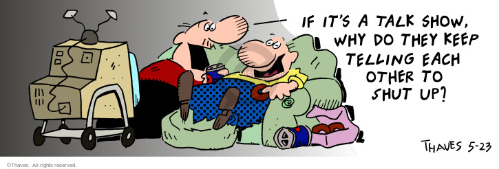 Comic Strip Bob Thaves Tom Thaves  Frank and Ernest 2001-05-23 manner