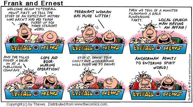 Cartoonist Bob Thaves Tom Thaves  Frank and Ernest 2001-06-03 news