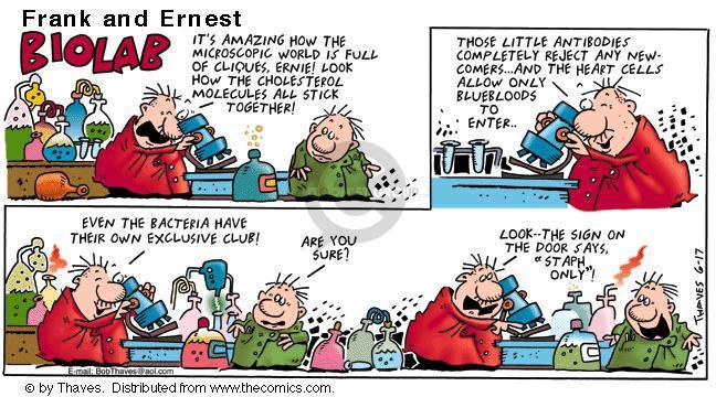 Cartoonist Bob Thaves Tom Thaves  Frank and Ernest 2001-06-17 biology