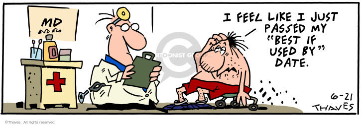 Cartoonist Bob Thaves Tom Thaves  Frank and Ernest 2001-06-21 hurt