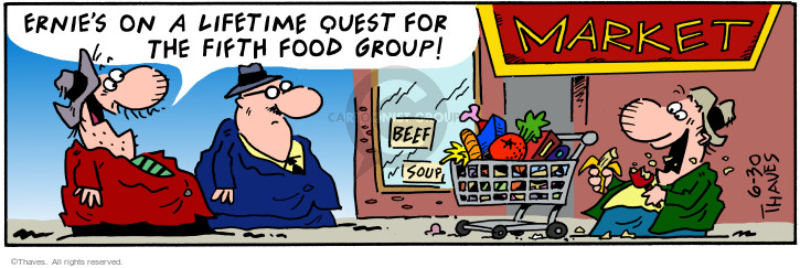 Comic Strip Bob Thaves Tom Thaves  Frank and Ernest 2001-06-30 categorize