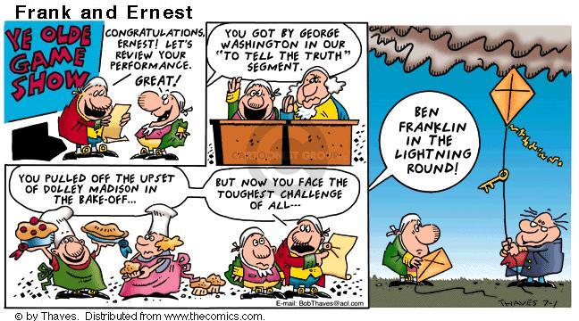 Comic Strip Bob Thaves Tom Thaves  Frank and Ernest 2001-07-01 host