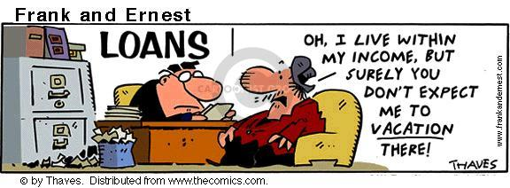 Comic Strip Bob Thaves Tom Thaves  Frank and Ernest 2001-07-06 financial institution