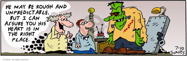 Cartoonist Bob Thaves Tom Thaves  Frank and Ernest 2001-07-10 medical center