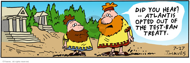 Comic Strip Bob Thaves Tom Thaves  Frank and Ernest 2001-07-27 treaty