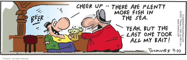 Comic Strip Bob Thaves Tom Thaves  Frank and Ernest 2001-09-10 plenty
