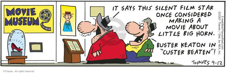 Cartoonist Bob Thaves Tom Thaves  Frank and Ernest 2001-09-12 star