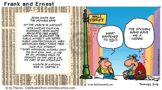 Comic Strip Bob Thaves Tom Thaves  Frank and Ernest 2001-09-16 Dow Jones
