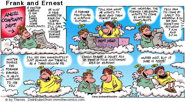 Comic Strip Bob Thaves Tom Thaves  Frank and Ernest 2001-09-23 Mister
