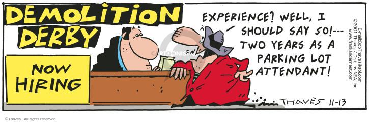 Comic Strip Bob Thaves Tom Thaves  Frank and Ernest 2001-11-13 car park