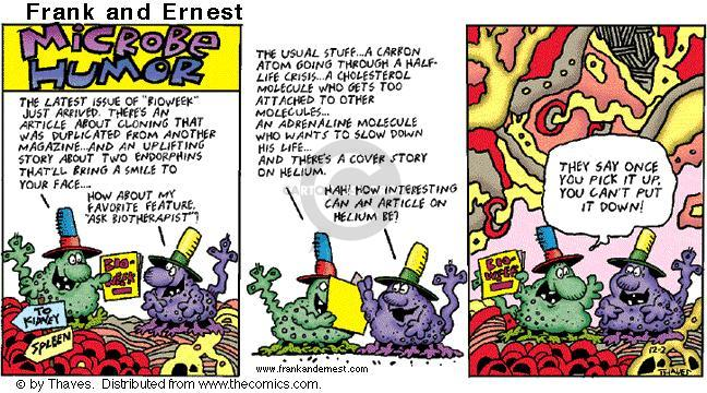 Cartoonist Bob Thaves Tom Thaves  Frank and Ernest 2001-12-02 biology