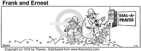 Cartoonist Bob Thaves Tom Thaves  Frank and Ernest 1973-01-11 slot