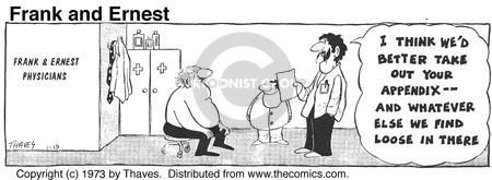 Comic Strip Bob Thaves Tom Thaves  Frank and Ernest 1973-01-19 physician