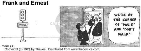 Cartoonist Bob Thaves Tom Thaves  Frank and Ernest 1973-02-08 landmark