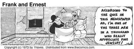 Comic Strip Bob Thaves Tom Thaves  Frank and Ernest 1973-03-08 target market