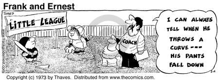 Comic Strip Bob Thaves Tom Thaves  Frank and Ernest 1973-05-04 sports uniform