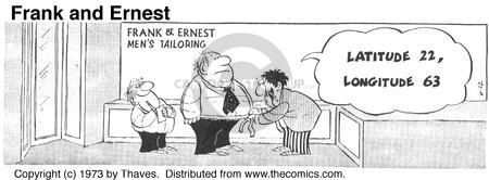 Comic Strip Bob Thaves Tom Thaves  Frank and Ernest 1973-06-12 tailor