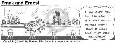Cartoonist Bob Thaves Tom Thaves  Frank and Ernest 1973-08-29 bad