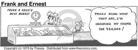 Cartoonist Bob Thaves Tom Thaves  Frank and Ernest 1973-09-21 food policy