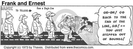 Comic Strip Bob Thaves Tom Thaves  Frank and Ernest 1973-10-16 financial institution