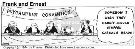 Comic Strip Bob Thaves Tom Thaves  Frank and Ernest 1974-01-02 vegetable