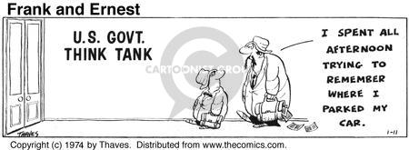 Cartoonist Bob Thaves Tom Thaves  Frank and Ernest 1974-01-11 afternoon