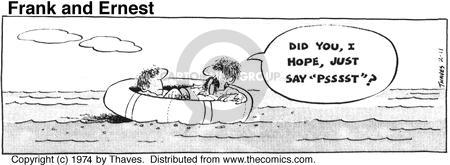 Comic Strip Bob Thaves Tom Thaves  Frank and Ernest 1974-02-11 sinking boat