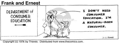 Comic Strip Bob Thaves Tom Thaves  Frank and Ernest 1974-03-12 sign