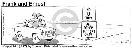 No U turn. All other letters okay.