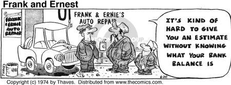Comic Strip Bob Thaves Tom Thaves  Frank and Ernest 1974-06-20 cash
