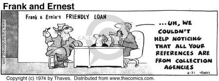 Comic Strip Bob Thaves Tom Thaves  Frank and Ernest 1974-06-21 union