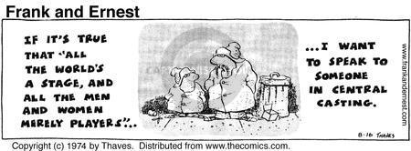 Comic Strip Bob Thaves Tom Thaves  Frank and Ernest 1974-08-16 speak