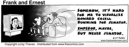 Comic Strip Bob Thaves Tom Thaves  Frank and Ernest 1974-08-27 emperor