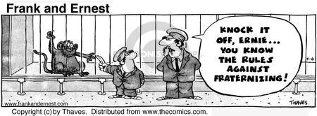 Comic Strip Bob Thaves Tom Thaves  Frank and Ernest 1974-09-06 knock it off