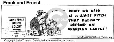Comic Strip Bob Thaves Tom Thaves  Frank and Ernest 1974-09-08 salesman