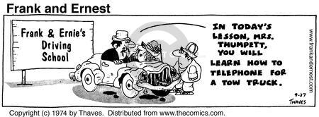 Comic Strip Bob Thaves Tom Thaves  Frank and Ernest 1974-09-27 today