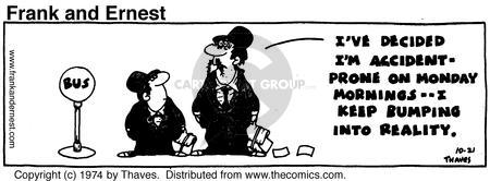 Comic Strip Bob Thaves Tom Thaves  Frank and Ernest 1974-10-21 employee