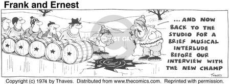 Comic Strip Bob Thaves Tom Thaves  Frank and Ernest 1974-11-20 effort