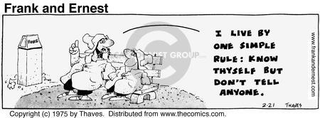 Cartoonist Bob Thaves Tom Thaves  Frank and Ernest 1975-02-21 communicate