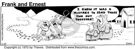 Comic Strip Bob Thaves Tom Thaves  Frank and Ernest 1975-02-25 drunk
