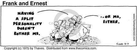 Comic Strip Bob Thaves Tom Thaves  Frank and Ernest 1975-03-11 divide