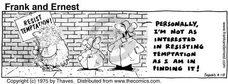 Comic Strip Bob Thaves Tom Thaves  Frank and Ernest 1975-03-13 exert