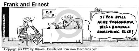 Cartoonist Bob Thaves Tom Thaves  Frank and Ernest 1975-03-18 ache