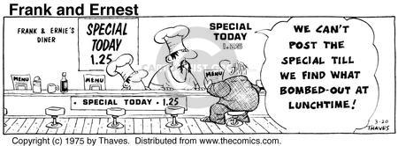 Cartoonist Bob Thaves Tom Thaves  Frank and Ernest 1975-03-20 post