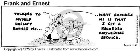 Comic Strip Bob Thaves Tom Thaves  Frank and Ernest 1975-03-27 concern