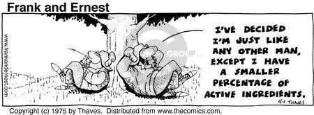 Comic Strip Bob Thaves Tom Thaves  Frank and Ernest 1975-04-01 exception